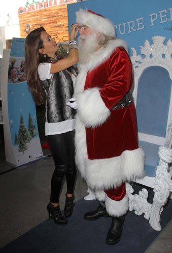 Brooke Burke and Santa