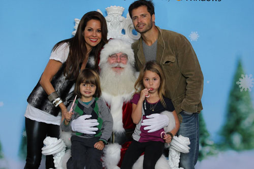 Santa and Brooke Burke