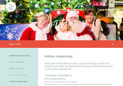 Santa Monica Tree Lighting Santa Claus