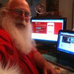 Santa and Computer2 11-15-13
