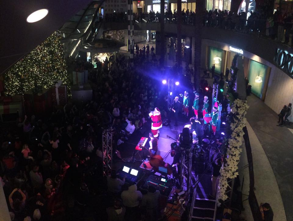 Santa at Santa Monica Tree Lighting 2014