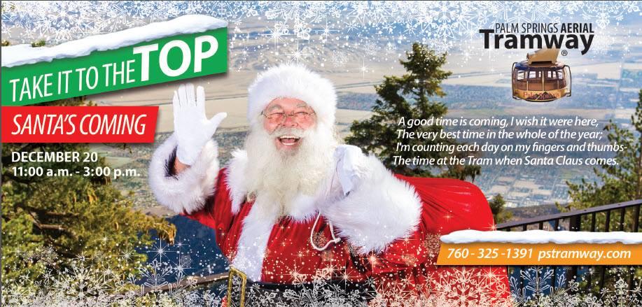 Palm Springs Tram Santa