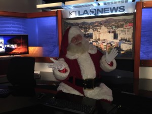 Santa Ed at KTLA studio in Hollywood