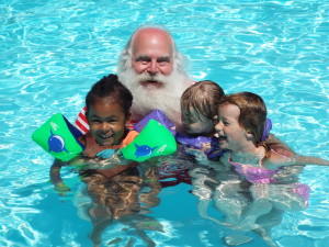 Santa Claus Pool Party