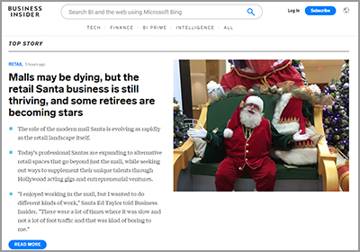 Santa Ed - Business Insider article 2019 - Business Insider Article - Click Here